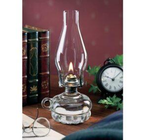 amber hurricane lamp