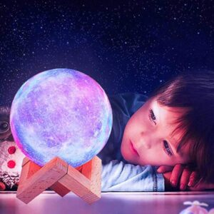rechargeable childrens moon lamp