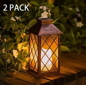 hanging lantern solar lights 2 pack reviews