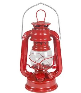 clear glass hurricane lamp with fuel