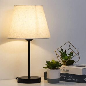 small sized desk lamp with round base