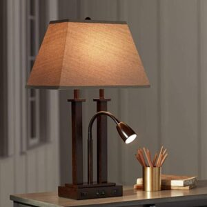 vintage portable desk lamp with swing arm reading light
