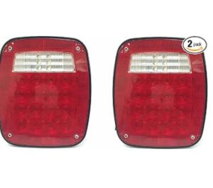 2 pack square rear light