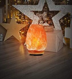 real himalayan salt rock lamp