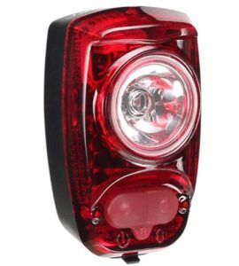bicycle tail light with 6 night and daytime modes