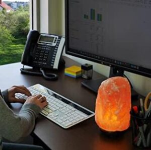 orange rock lamp