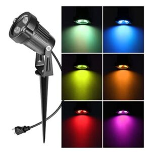 battery garden spotlights with multi color options