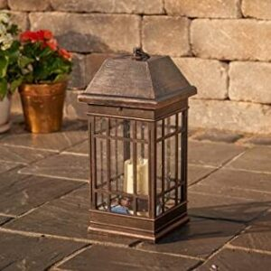 wall mount or ground top led solar garden lantern