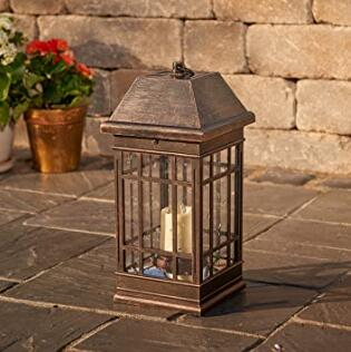 wall mount or ground top led solar garden lantern