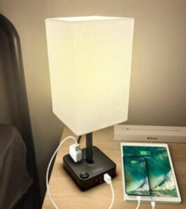 Cozoo nightstand lamp with usb port and AC outlet
