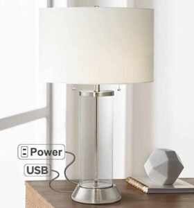tall usb powered table lamp for living rooms