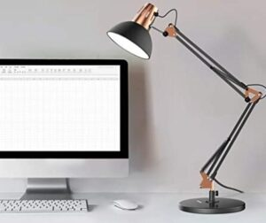 swing arm desk lamp for eyes in office