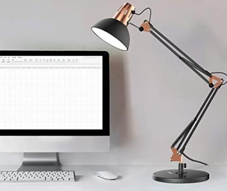 swing arm desk lamp for eyes in office