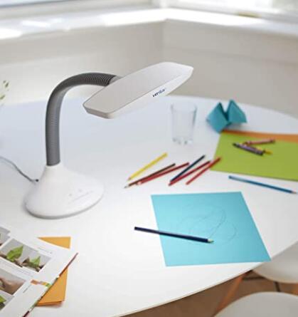Verilux sunlight desk lamp natural full spectrum sun light with adjustable gooseneck