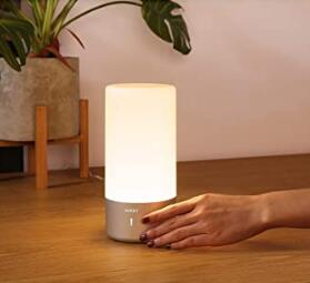 Aukey touch control modern table lamps for your bedside