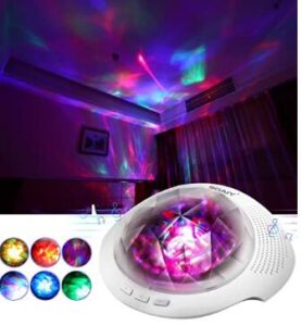 night light projector with rotating light for nursery