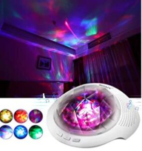 nursery light projector with adjustable brightness and timer