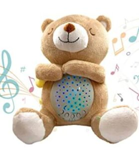 3 in 1 teddy bear and sound machine and night light projector for 5 year old