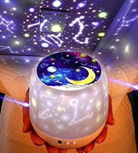 nursery ceiling light projector with rotating stars