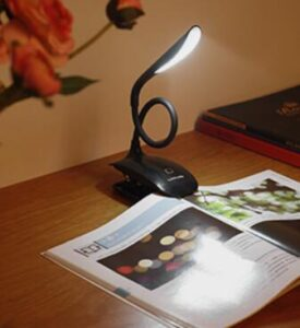 LuminoLite clip on led reading lamp for bed