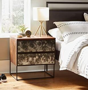 Rivet gold bedside tripod lamp for modern room