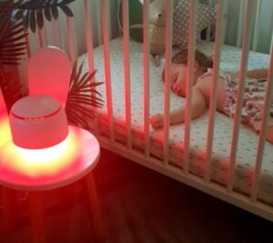 childrens red night light