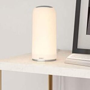 Aukey dimmable touch table lamp for seniors bedroom