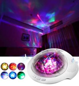 night light projector with bluetooth for adults