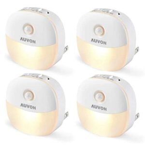 Auvon 4 pack plug in motion sensor night light