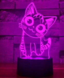 Cheish Tea 3d night light for cats with base