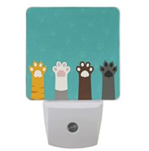 cat paw night light for hallways and cat house