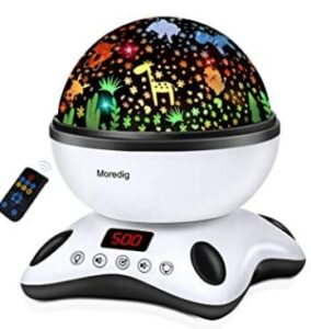 remote control night light projector with timer and remote for toddlers