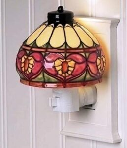 Roman tiffany ceramic led night light for adults