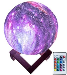 3d galaxy theme moon lamp with remote control