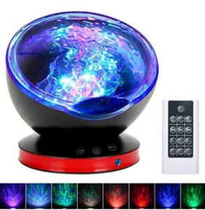 soothing ocean weave night light projector and music machine for 2-year-old