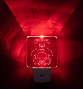 childrens plug in red night light