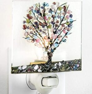 plug in bathroom night light with nature theme
