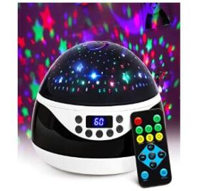 AnanBros color changing night light projector with music and remote