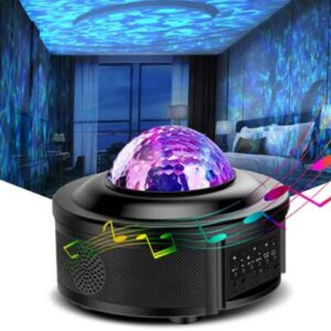 led night light projector with bluetooth and music