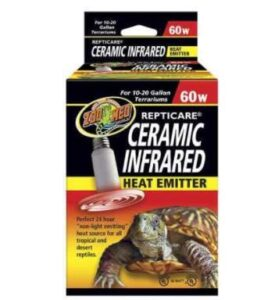 zoo med ceramic night light bulb for leopard geckos and reptiles