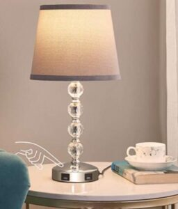 touch sensitive night lamp with dimmable light