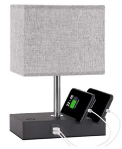 nightstand touch lighting with phone holder and usb ports