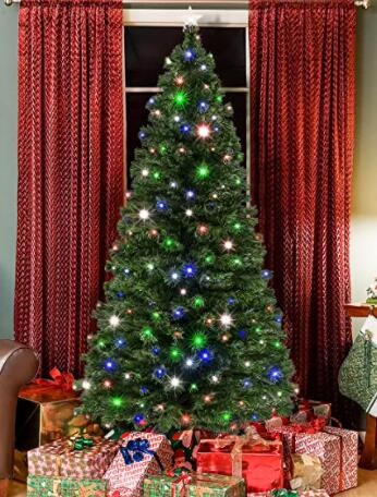 indoor christmas trees with lights