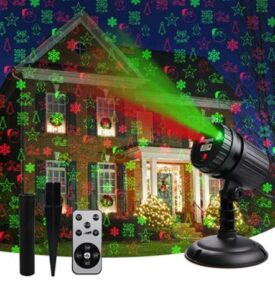 christmas light projector red and green