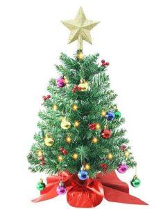best tabletop pre lit christmas tree