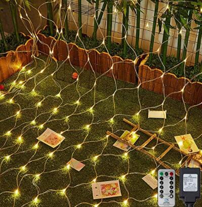 solar net christmas lights