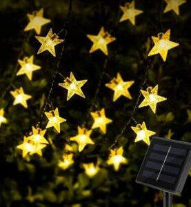 solar christmas string star lights