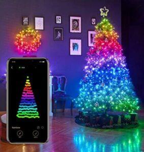 led smart tech lighting for christmas tree