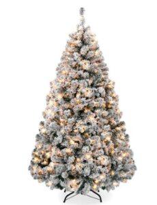 best pre lit flocked christmas tree