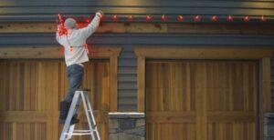 how to hang christmas lights on roof